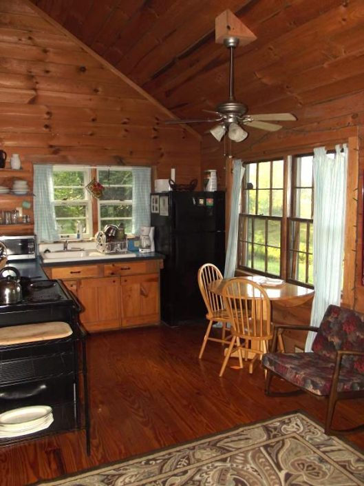 Pine Cabin Dining Area