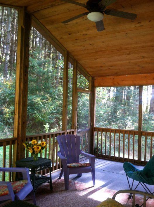 The Cedar Cabin Screen Porch
