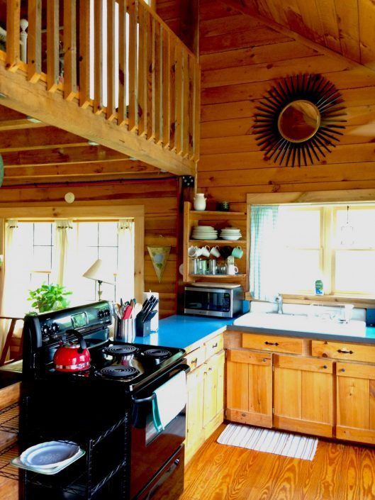 Pine Kitchen In Our Cabins