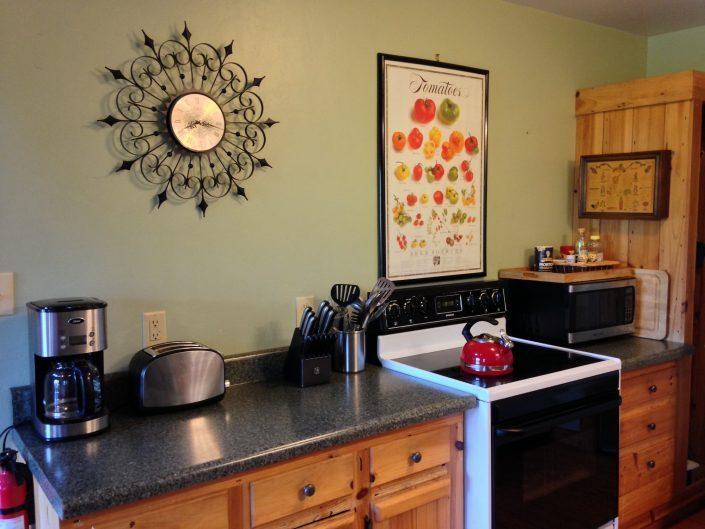 Poplar Rental Cabin Kitchen