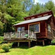 Pine Pet Friendly Rental Cabin Exterior Close Up